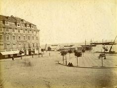Praça Duque da Terceira, prova em albumina, fotó