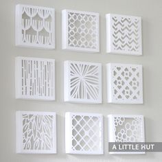 love this wall art idea with printable gift box lids