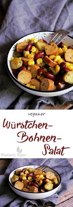 Würstchen-Bohnen-Salat vegan
