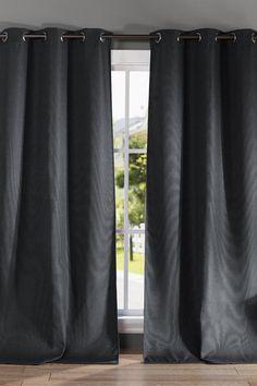 $32 Montgomery Heavy Blackout Grommet Panel Curtains - Set of 2 - Black on @HauteLook