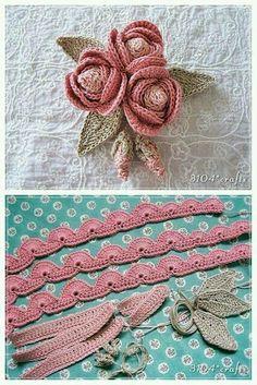 Rosinha de crochet diferente