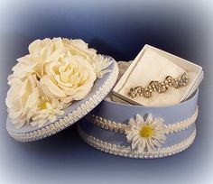 Shabby Chic Box Jewelry Box Trinket Box ❤
