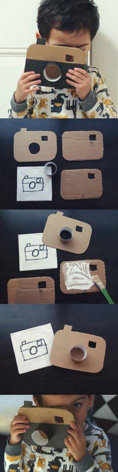 DIY: Cardboard Camera - Cómo hacer una cámara de juguete con cartón