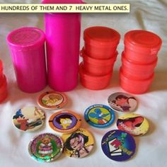 Pogs! My brother and I must have had hundreds of these things...can't forget the slammers as well.