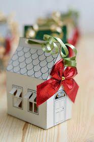 s i n n e n r a u s c h: DIY | Weihnachtliche Papierhäuser zum Verschenken