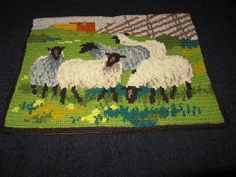 """Bought from Sweden thru Etsy    """"Beautiful vintage swedish hand embroidered wall hanging.wool.  Twist embroidery""""."""