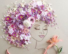 """Pin for Later: These Flower Portraits Will Leave You Breathless  """"Pink Breeze"""" Flower Face Print ($35-$78)"""