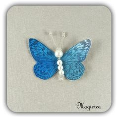 STICKER PAPILLON SOIE 5 CM BLEU - Boutique www.magicreation.fr