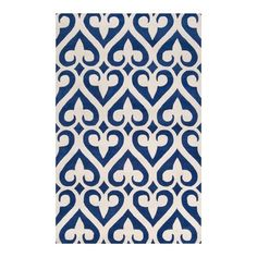 I pinned this Fleur 8' x 11' Rug in Royal Blue from the Jill Rosenwald event at Joss and Main!