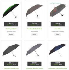 You can never have too many folding umbrellas!