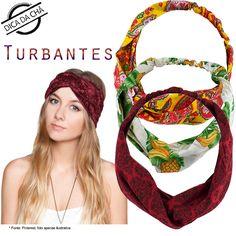Turbantes de cores variadas prontinhos para usar :) www.chademulher.com.br #turbante #faixadecabelo #acessoriodecabelo