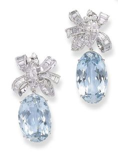 Diamonds and aquamarine