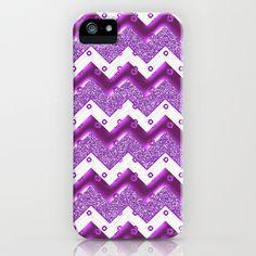 Chevron Plum iPhone & iPod Case by Alice Gosling