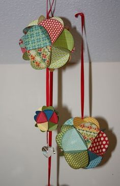 my grandma used to make these with Christmas cards, and then she would roll the edges in glitter!