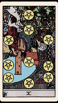 The Card of the Day: The Ten of Pentacles (Reversed) — Elliot Oracle - Tarot Card Readings