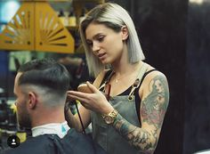"""Barber of the week @matildajean_  A Tribute to Female Barbers """"Finally""""  Today there are more female barbers all across the globe than ever before and they can cut  hair just as good if not better than some of the male barbers in this predominantly male driven industry.  We have women like Zane Skerry who has been inducted into the Barber Hall of Fame. And the first female and African American to become President of the National Association of Barber Boards Vera Winfield . #femalebarber…"""