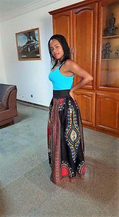 Jupe longue taille gainante et froncée en wax ( pagne africain )
