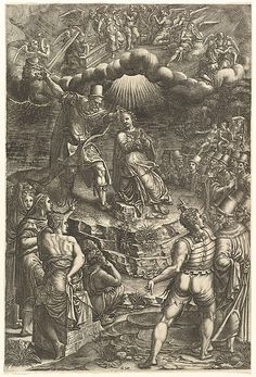 The Martrydom of St. Barbara Artist: Engraved by Giorgio Ghisi (Italian, Mantua ca. 1520–1582 Mantua) Date: late 1570s Medium: Engraving