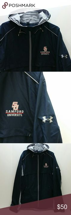 UNDER ARMOUR SAMFORD UNIVERSITY JACKET VERY CLEAN INSIDE-OUT   SKE # SW Under Armour Jackets & Coats