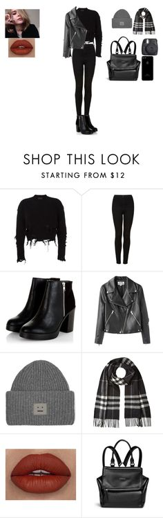 """Başlıksız #412"" by belinda-bailey ❤ liked on Polyvore featuring adidas Originals, Topshop, Acne Studios, Burberry, Givenchy and Fuji"