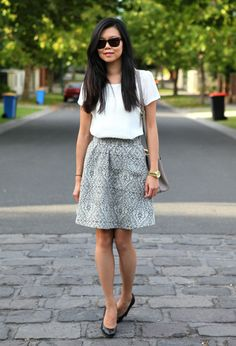 Printed Skirt  , Review in Skirts, Zara in Shirt / Blouses