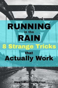 Running in the Rain - 8 Strange Tricks that Actually Work. Ever wondered how to run in the rain the proper way? Find out! Try these 8 clever tricks to make running in the rain SO much easier! Running In The Rain, People Running, Keep Running, Running Tips, Winter Running, Running Form, Trail Running, Fitness Workouts, Running Workouts