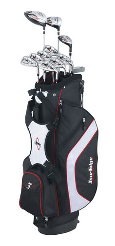 The 460cc driver in these mens reaction 3 complete golf club sets with stand bag by Tour Edge delivers big distance off the tee