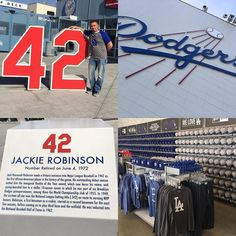 THINK BLUE: Ready for some Goodlettsville Baseball when I get home!  Great day in LA #BMS #42 #jackierobinson #LA #dodgers #baseball #dodgerstadium #forgiatoweekend #BMSFAM by briansmotorsports