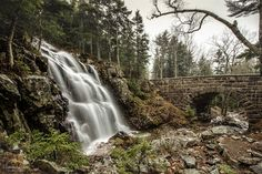 Hadlock Falls and Waterfall Bridge Acadia National Park Maine | by Susan Garver Photography