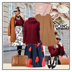 """Yoins 03"" by aida-1999 ❤ liked on Polyvore featuring moda, Christian Dior, Yves Saint Laurent i yoins"