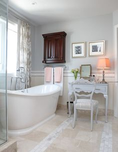 Another Sarah Richardson neutral bathrooms--timeless