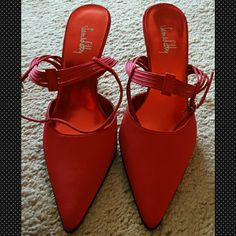 Sam & Libby Beautiful Red Heels! These shoes are a true beauty! Only worn once!  For further questions on these gems, drop a comment. (: -Offers welcome! -No trades Sam & Libby Shoes Heels