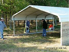 Mulligans Run Farm Barn - Turn a Carport into a Barn! Goat Shelter, Horse Shelter, Goat Barn, Farm Barn, Horse Barn Plans, Horse Barns, Horse Stables, Garage Portable, Building A Carport