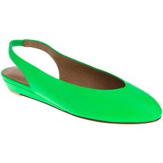 Nina Originals Green Juniper Leather Slingback (€22) ❤ liked on Polyvore featuring shoes, sandals, strap sandals, leather slingback shoes, sling back sandals, green leather shoes and leather strap sandals