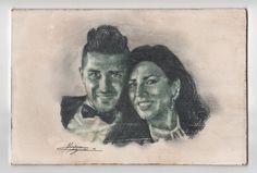 Massimo Capogna - Artist:  Pastello verde oltremare, matita HB 3 su masonit...
