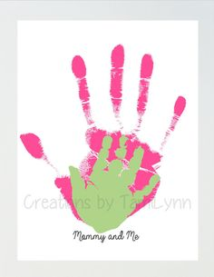 Parent and Child Handprint Art by CreationsbyTamiLynn on Etsy