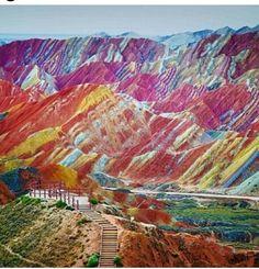 Montaña de arcoiris, china
