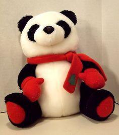 "COLLECTIBLE Stuff Plush Wildlife ZOO Animal PANDA BEAR 10"" HALLMARK"