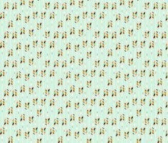 A Rain(bow) of Arrows: Mint fabric by nadiahassan on Spoonflower - custom fabric from the Tribal Nursery blog