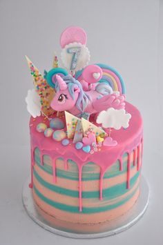 Rozanne's Cakes: My Little Pony crazy cake                                                                                                                                                                                 More