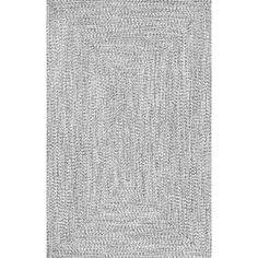 Wade Logan Kulpmont Hand-Braided Gray Indoor/Outdoor Area Rug Rug Size: Oval x