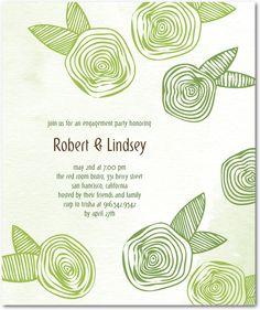 engagement announcement (weddingpaprdivas.com): Shapely Rosettes:Meadow