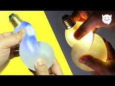 How to Make Glow Light Bulb Slime Stress Ball DIY !! - All