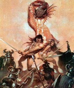 "dantekami: ""conanbarbarians: "" rehconan: "" freesf: "" heavymettle: "" Conan and Red Sonja "" "" Fantasy Art Warrior, Fantasy Art Men, Fantasy Girl, Fantasy Artwork, Red Sonja, Conan The Destroyer, League Of Heroes, Savage Worlds, Conan The Barbarian"