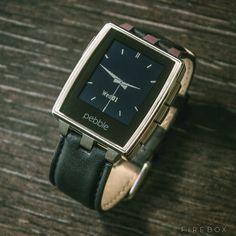 Pebble Steel Smartwatch - buy at Firebox.com