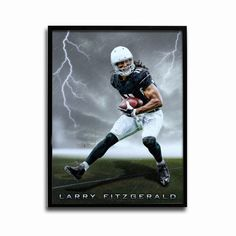 Arizona Cardinals Larry Fitzgerald Storm 24x18 Football Poster