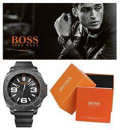 Czas na czasomierz sportowy, masywny, ale z klasą Hugo Boss z linii Sao Paulo w czarnej kopercie i na świetnie zaprojektowanym pasku