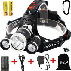 New Night Ops LED Military Style Headlamp  Bushcraft Camping Cycling Hiking SAS