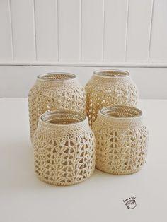 Hecho en Telar Baby Knitting Patterns, Crochet Patterns, Crochet Home Decor, Mason Jar Diy, Needlework, Decoration, Basket, Textiles, Candles