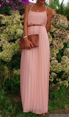 belted blush pink pleats